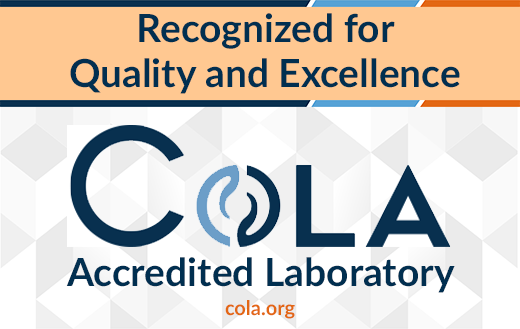COLA Accredited Laboratory